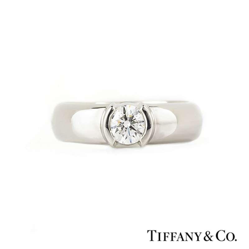Tiffany & Co. Diamond Etoile Ring in Platinum 0.50ct G/VS1